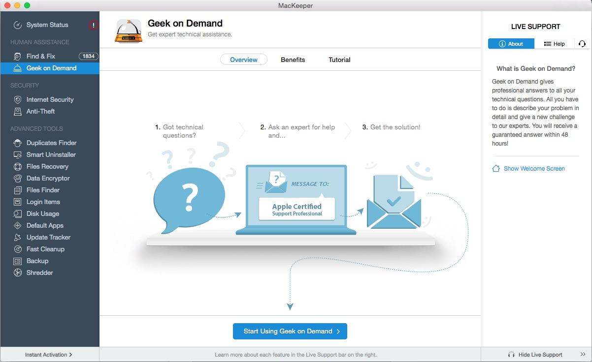 MacKeeper 3.7 Screen shot